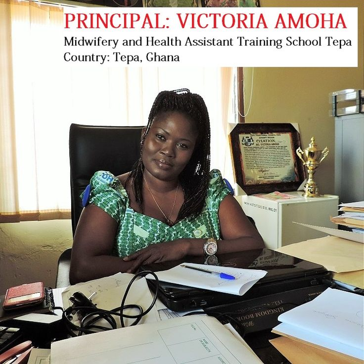 Principal VICTORIA AMOHA in 2020 Midwifery, Training