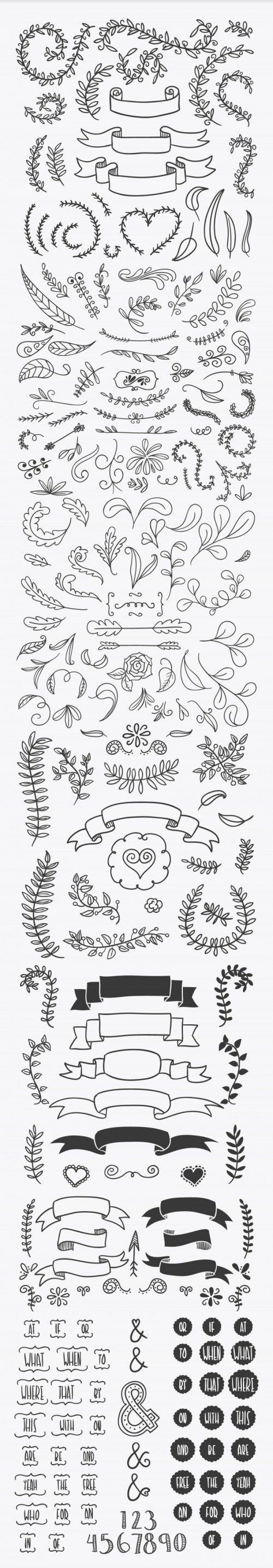 Handsketched Vector Elements 03