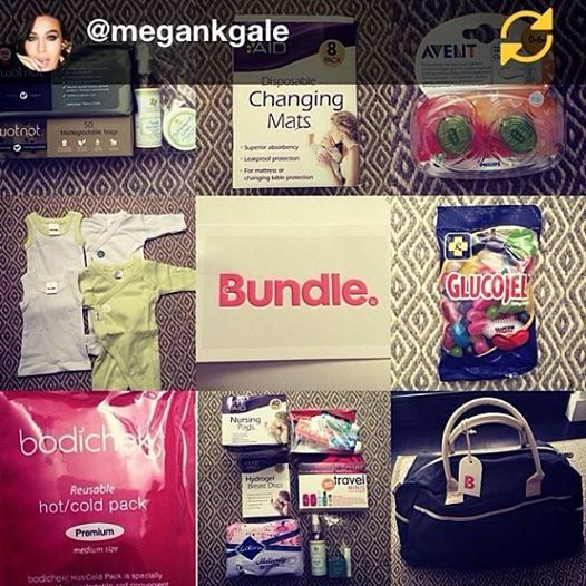 "RG Megan Gale ""This has to be one of the best ideas and services going around for expectant Mums. I'm 4 weeks from giving birth with a ton of things yet to do.. one thing is to pack that hospital bag for myself & bub which for some reason I have been procrastinating on! Mainly because there is so much to pack - just came across BUNDLE... They will throw together either a Mum or Bub bundle for you (or both) which includes all the essentials.... One more thing off my to-do list ✔️"""