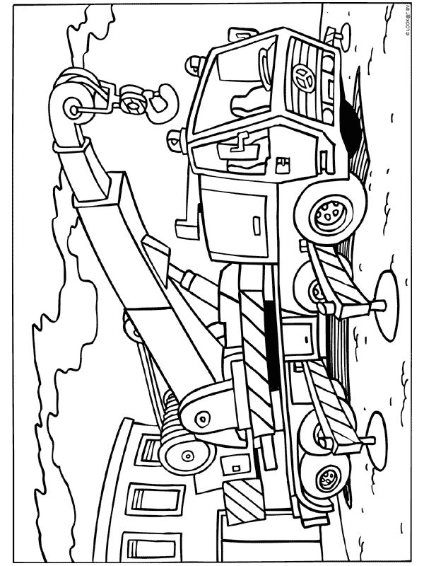 kleurplaat tractor met aanhanger baumaschinen 10 gratis