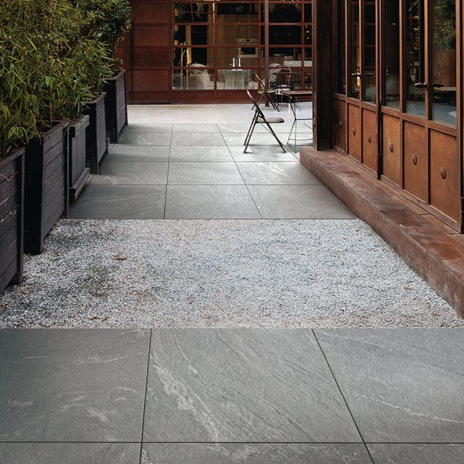 Mix your patio surfaces together gravel and our patio tile look great together get this diy - Basics mosaic tiles patios ...
