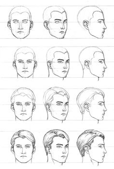how to draw faces in different angles