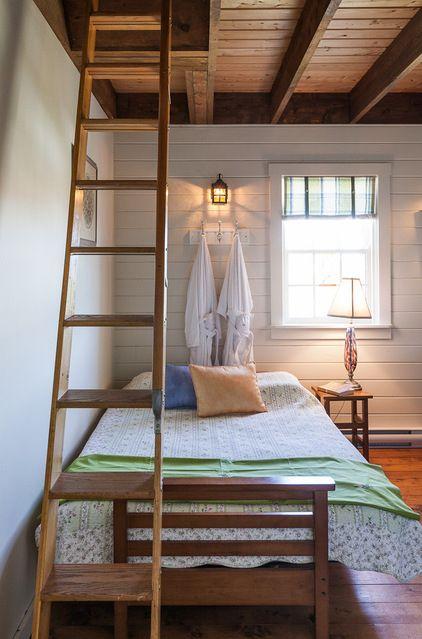 Cottage guest bedroom. I love the 2 bathrobes.