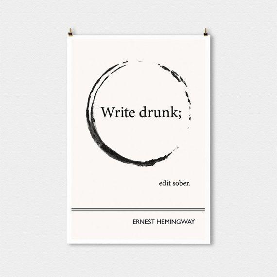Literarische Zitate Poster Ernest Hemingway Zitat von ObviousState