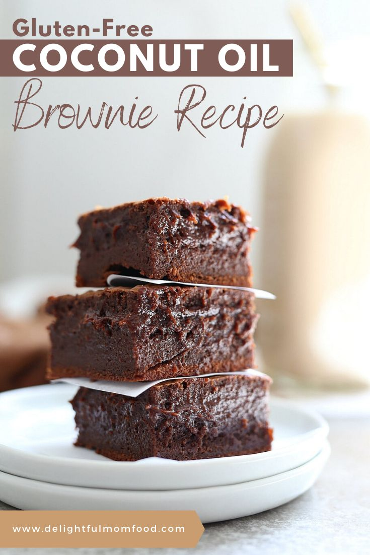 Extra fudgy coconut oil brownies! This is by far the BEST gluten-free brownie recipe with a rich chocolate center that m…