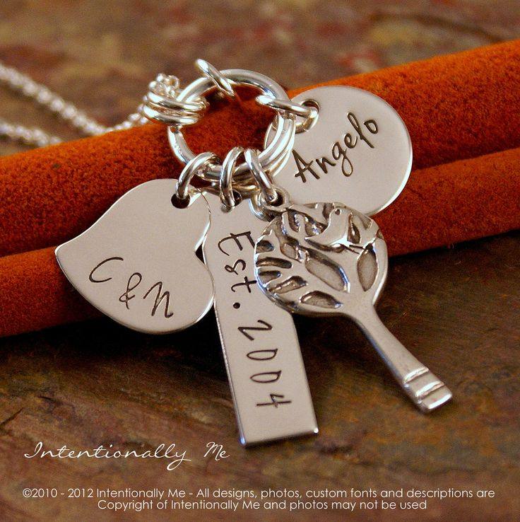 Personalized Mommy Jewelry - Hand Stamped Jewerly - Sterling Silver Necklace - My Love Story (one child), via Etsy.