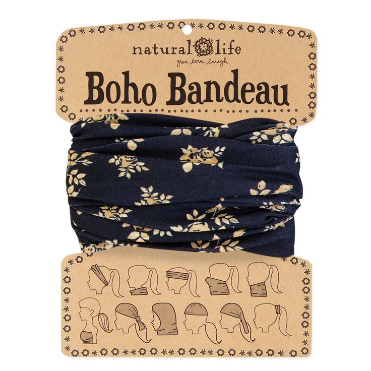 Natural Life Super cute & versatile Boho Bandeau can be worn 10 different ways! Wrap around your head, neck, wrist or pony - it's the perfect boho headband and accessory for girls who love to try out