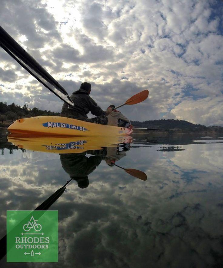 Gadouras Dam Kayaking Rhodes isl. #RhodesOutDoors