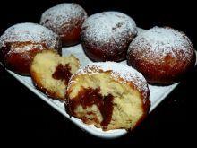 Pączki z nadzieniem truskawkowo - czekoladowym