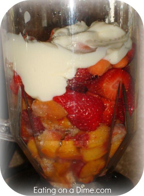 Strawberry-Peach-Carrot Smoothie