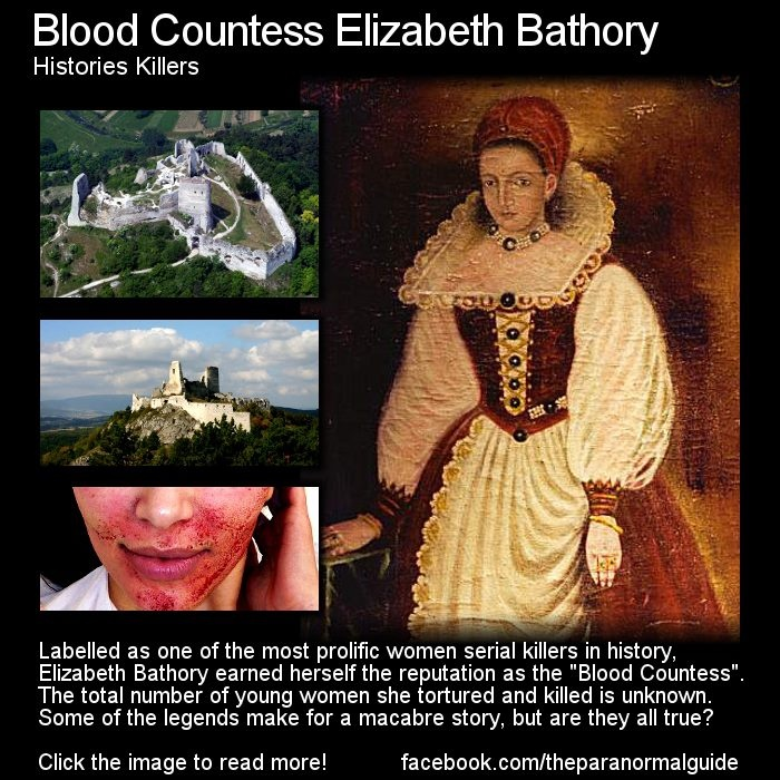 Blood Countess Elizabeth Bathory  Histories Killers    On 21st August 1614, a jailer in Csejte Castle climbed the stairs of one of its towers and found several plates of food...