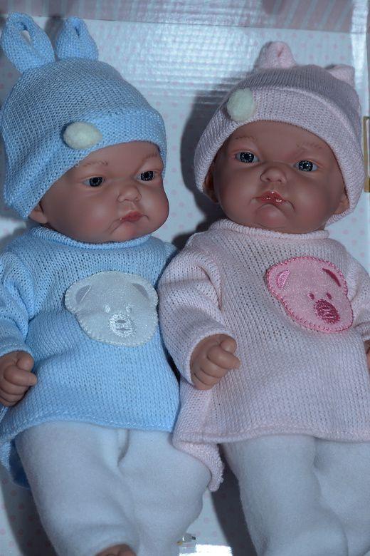 Realistické panenky dvojčátka - chlapeček a holčička od firmy Guca ze Španělska
