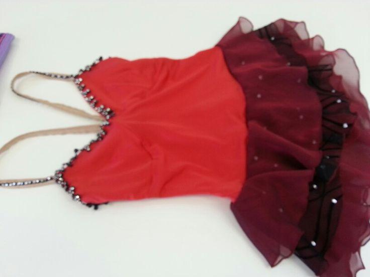 Canasta tango ice dance comp costume - front