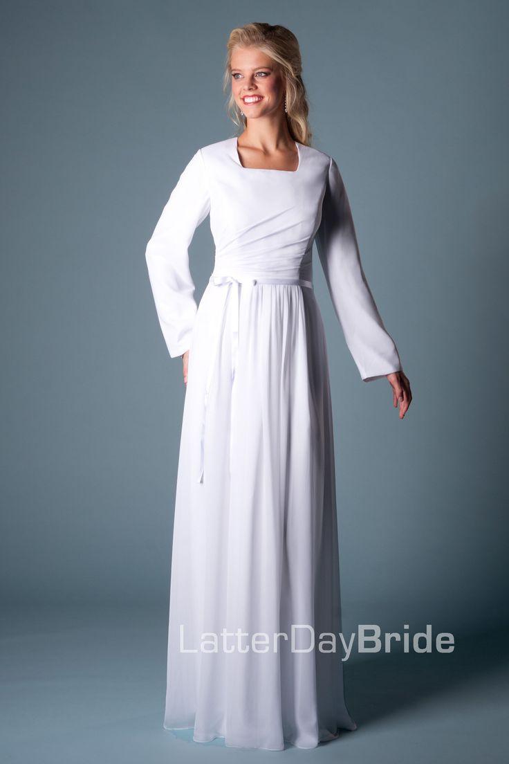 Modest Wedding Dress, Raleigh | LatterDayBride & Prom -Modest Mormon LDS Temple Dress