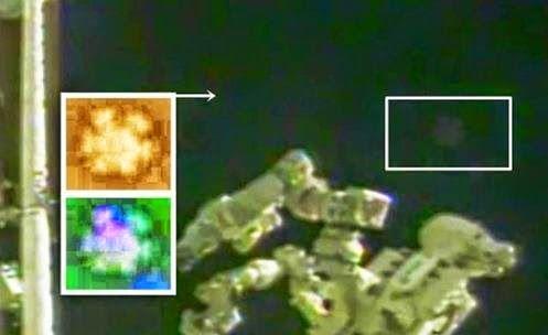 UFO filmado próximo a Estação espacial, logo após Alimentação de vídeo ao Vivo é Cortada