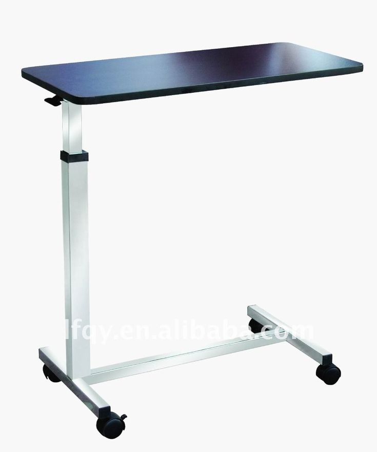 Rolling over bed hospital table that is adjustable is essential