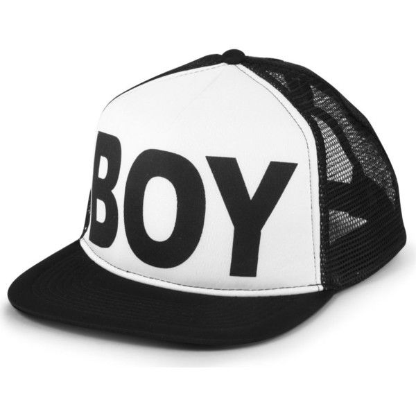 BOY LONDON Boy logo snapback cap ($54) ❤ liked on Polyvore featuring accessories, hats, hair, boy london hat, cotton logo hat, boy london, logo snapback hats and snap back caps