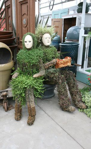 Unique and slightly creepy planters
