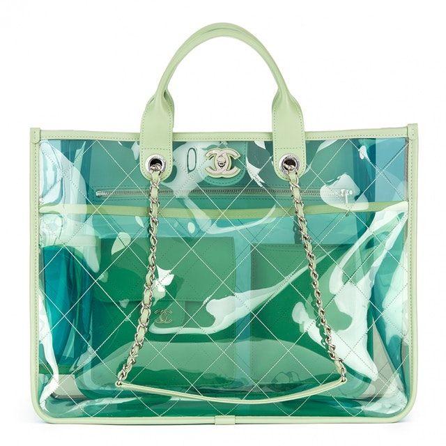 Notjessfashion Chanel Clear Tote Handbag By Notjessfashion Fashion Womenfashion Dress Cloth Weddingdress Bags Plastic Handbag Woman Bags Handbags