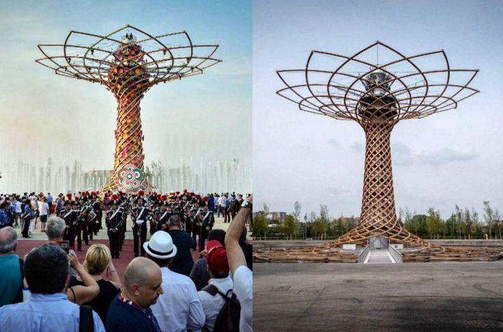 Un viaggio nel tempo sulla grande area di Expo a un anno dalla grande festa dell'apertura. Il prima e il dopo dell'Esposizione universale attraverso le