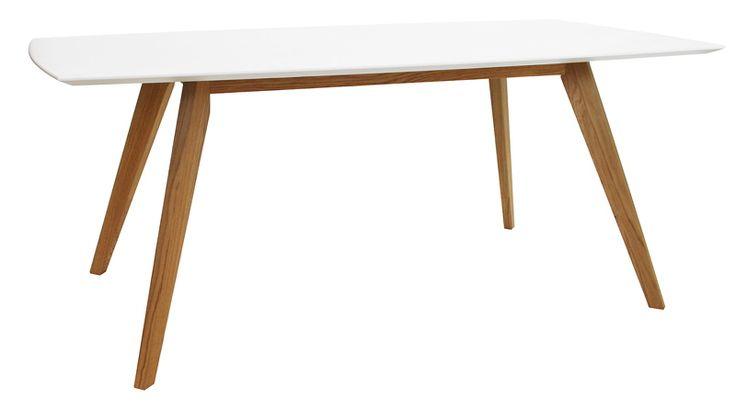 Bess Spisebord2180 spisebord hvit/eik, 185cm