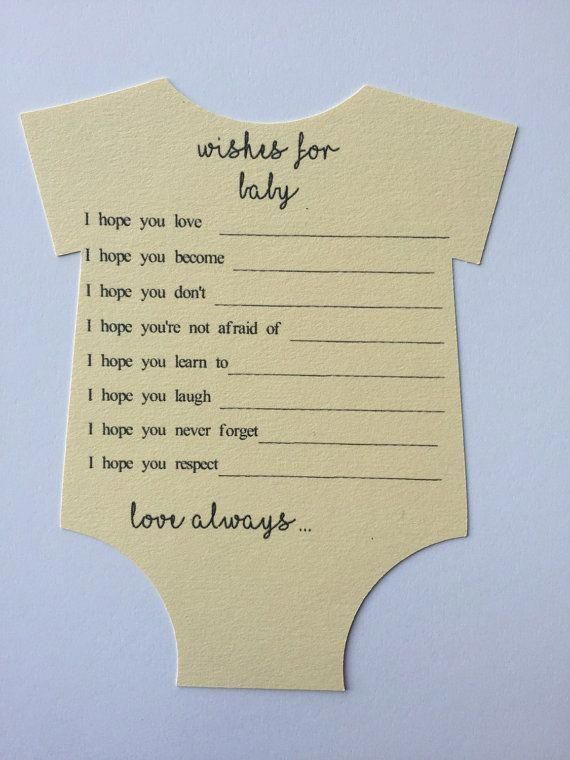 Wishes For Baby Shower Advice