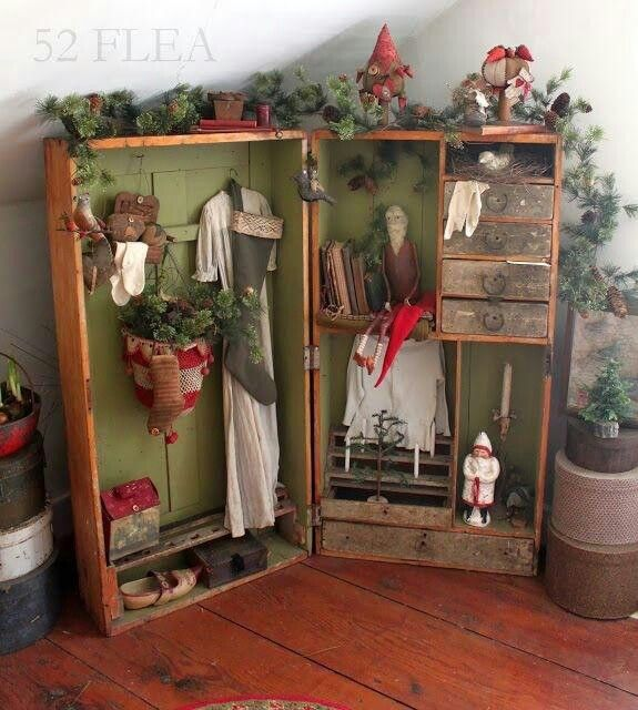 Primitive Christmas Decorating: Pin By Cheryl Goss On Primitive Christmas Decorating Ideas