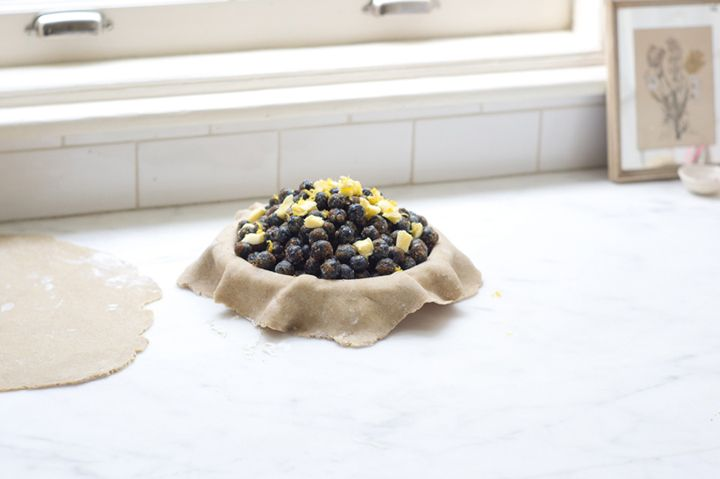 Blueberry Lemon Verbena Pie