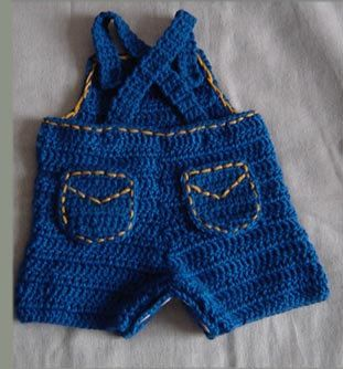 Baby Jeans Romper Overall with Appliques por CathyrenDesigns