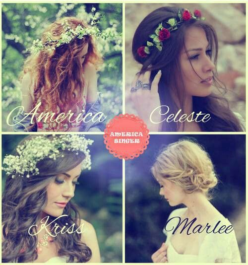 Four girl and one crown