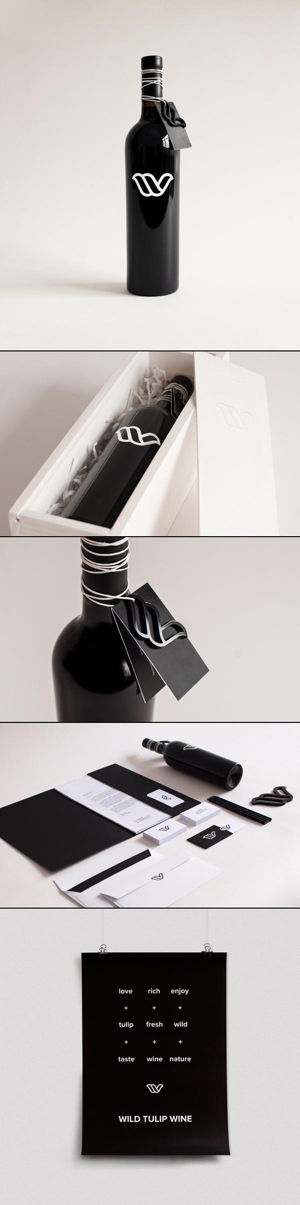 Wild Tulip Wine. Designed by Mindaugas Narbutas & Ingrida Jadevičiūtė / Breezy. Lithuania.