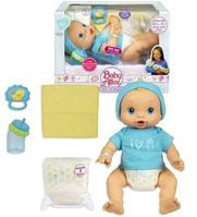 In Stock at http://www.bonanza.com/listings/Baby-Alive-Wets-n-Wiggles-Animated-Interactive-Boy-Doll-Hasbro-Toy-Brand-New/43057916    Hasbro Baby Alive 2006    Original Wets 'n Wiggles     Interactive Boy Doll    Brand New Factory Sealed Box -  Ultra Rare! Retired and No Longer Made!    Play mommy with this amazing doll that drinks his juice and wets his diaper just like a real baby!     When you change the dolls diaper, watch out – babies can be full of surprises!