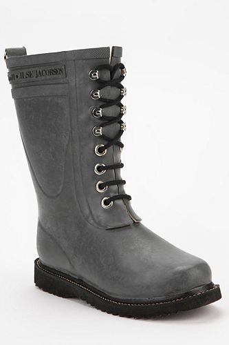 Ilse Jacobsen Mid-Rise Lace-Up Rain Boots It's boots like this that make me love Fall