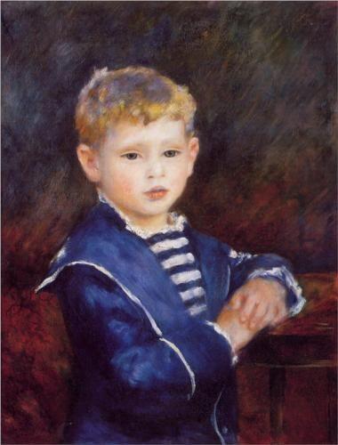 Paul Haviland - Pierre-Auguste Renoir - - I won People's Choice award (a notated sapphire Fiesta plate, color was created just for this art show) for a reproduction of this.  Gave it to my cousin.