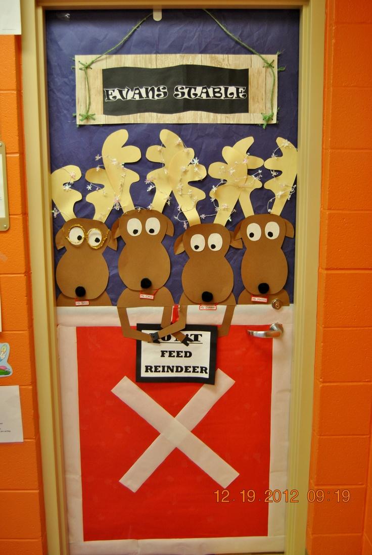 Christmas door decorations reindeer - Ms Summer S Christmas Door