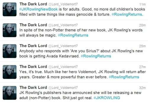 "anybody who responds with ""are you sirius?"" about JK Rowling's new book is getting avada kedavraed."