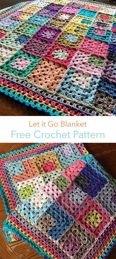 Let it Go Blanket Free Crochet Pattern | Maggie\'s Crochet - All ...