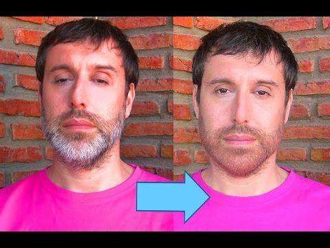 Cómo oscurecer las canas de la barba Trucos de Maquillaje   CarlosNaranjoTV - YouTube