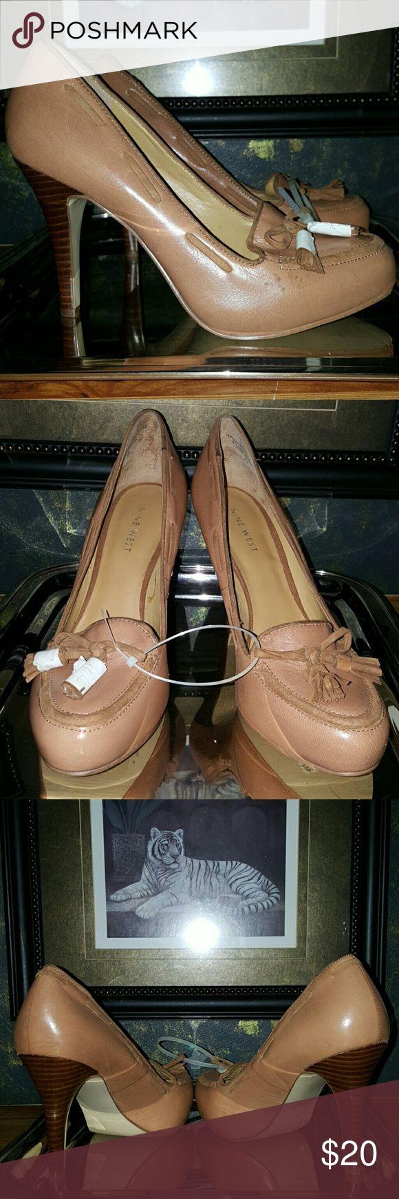 Beautiful Nine West heels SZ US 7.5M leather heels never worn NINE WEST. Nine West Shoes Platforms