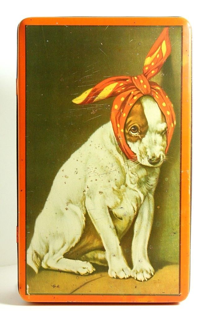 "Rare Sick Dog Italian Advertising Biscuits Candies Tin ""Pastiglie Leone"" - 1930s #PastiglieLeone"