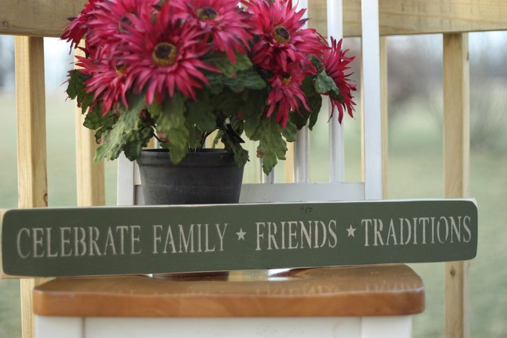 Celebrate Family Primitive Wood Sign
