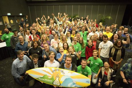All the participants at the first ever StartUp Weekend Sunshine Coast as featured in Sunshine Coast Daily 12/5/14.