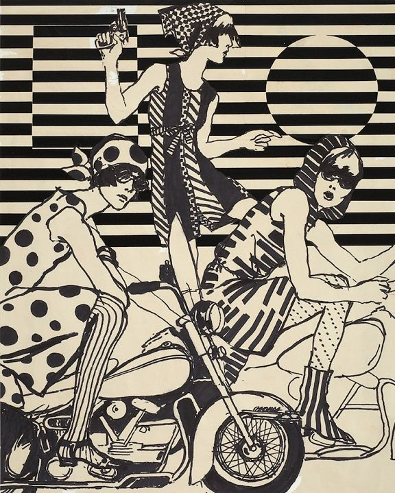 Illustration by Antonio Lopez, 1966, Fashions of the Times.