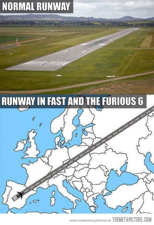 Reality vs. Fast and Furious 6… Was just thinking that last night!!