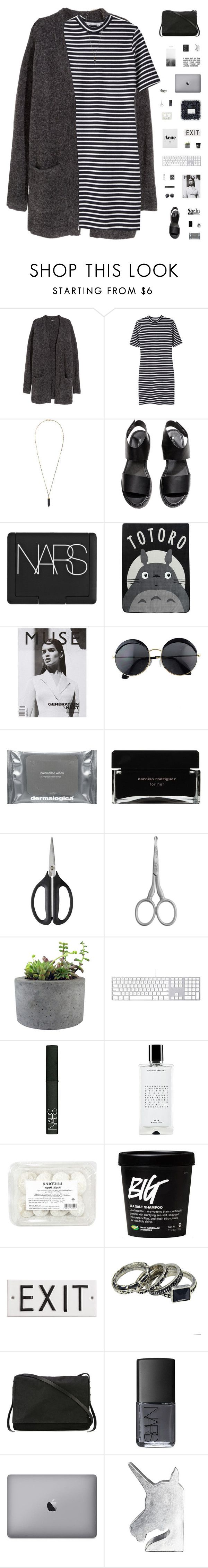 """FRAGILE"" by c-hristinep ❤ liked on Polyvore featuring H&M, T By Alexander Wang, Isabel Marant, NARS Cosmetics, Ghibli, Dermalogica, Narciso Rodriguez, OXO, Tweezerman and Rough Fusion"