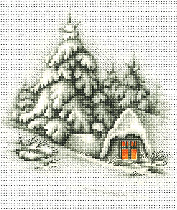 Winter Landscape Cross Stitch Kit | sewandso