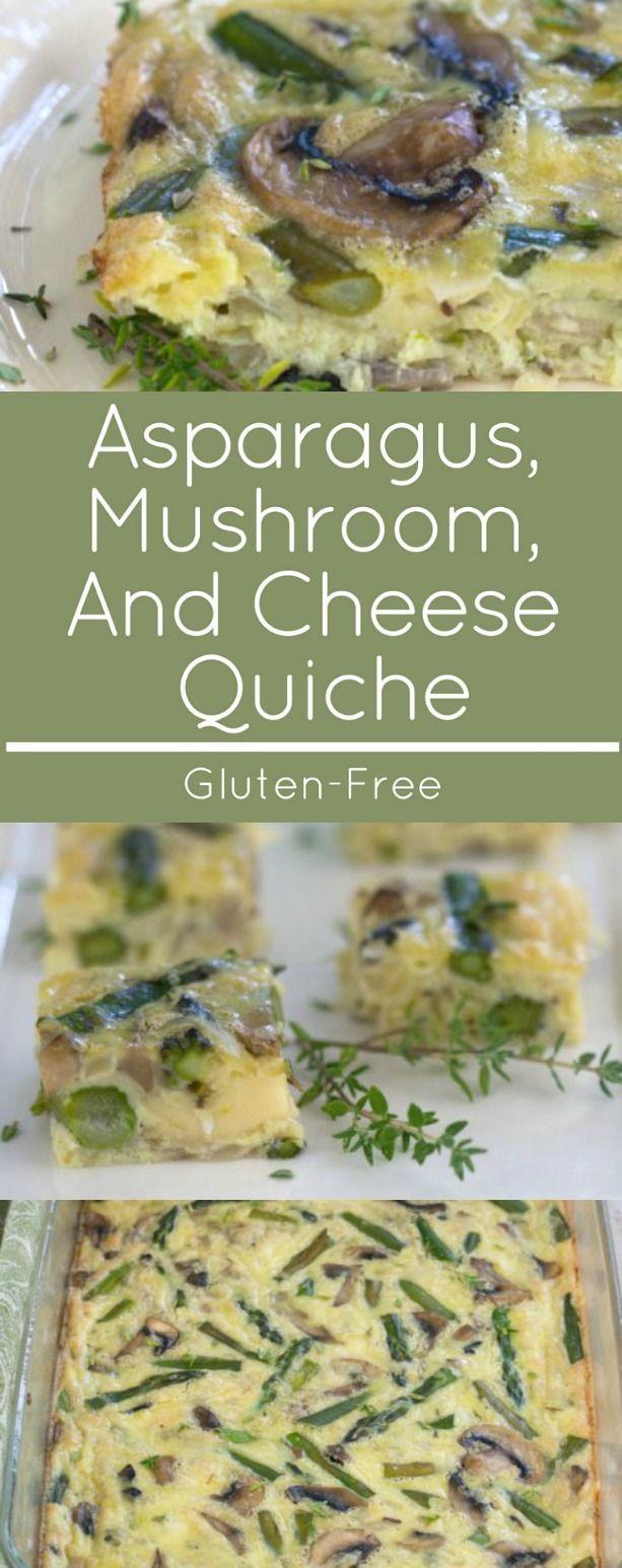 Asparagus, Mushroom Vegetarian Gluten free quiche