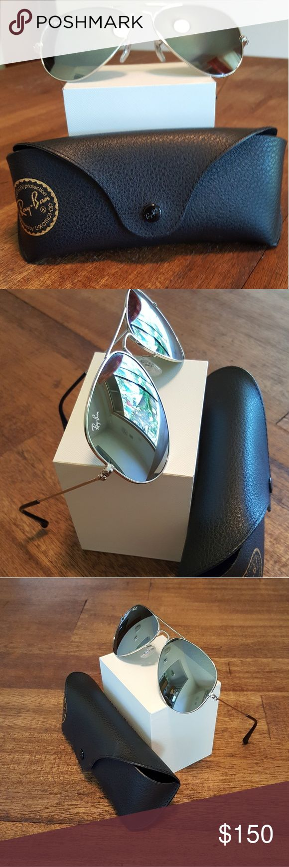RAY BAN SUNGLASSES Ray Ban Aviator Mirror   Ray-Ban RB3025 Aviator W3277 Silver Mirror Glass Len  Perfect  condition, Ray-Ban Accessories Sunglasses