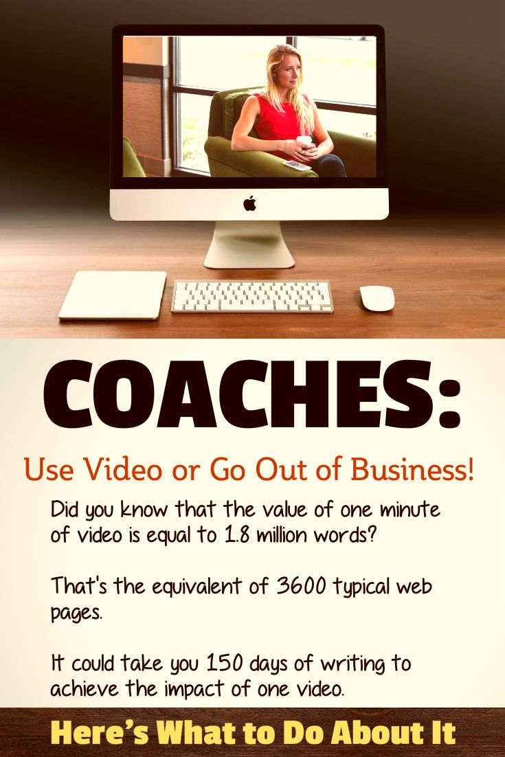 Social Media Marketing, Video Marketing, Video Email Marketing for Coaches. Discover why video is critical to your survival and success as a coach. Coaches: Use Video or Go Out of Business! https://www.video-marketing-for-coaches.com/blog/coaches-use-video-or-go-out-of-business