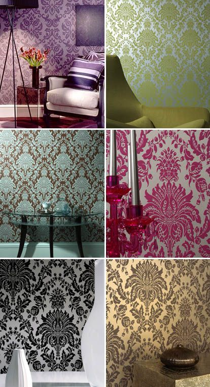 Like Damask Wallpaper?  We have a great selection at Steve's Blinds and Wallpaper!  Check it out today! Sarah bedroom